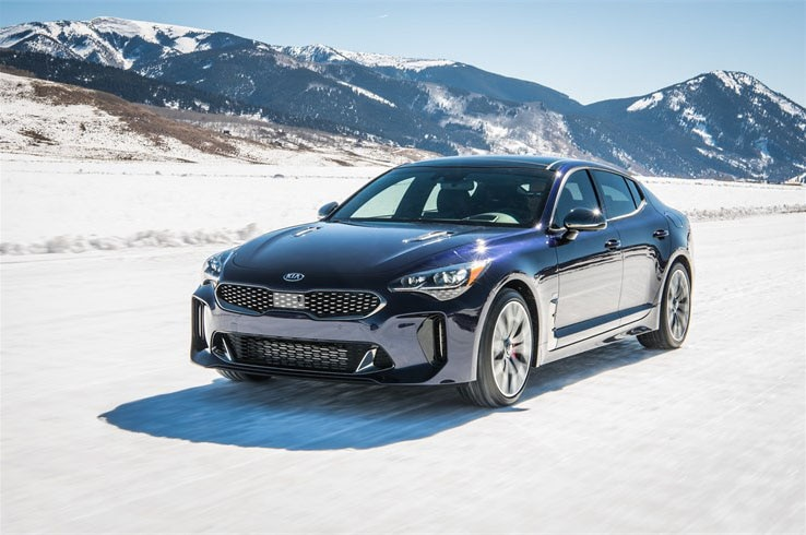 2019 Kia Stinger GT Atlantica Front Three Quarter In Motion