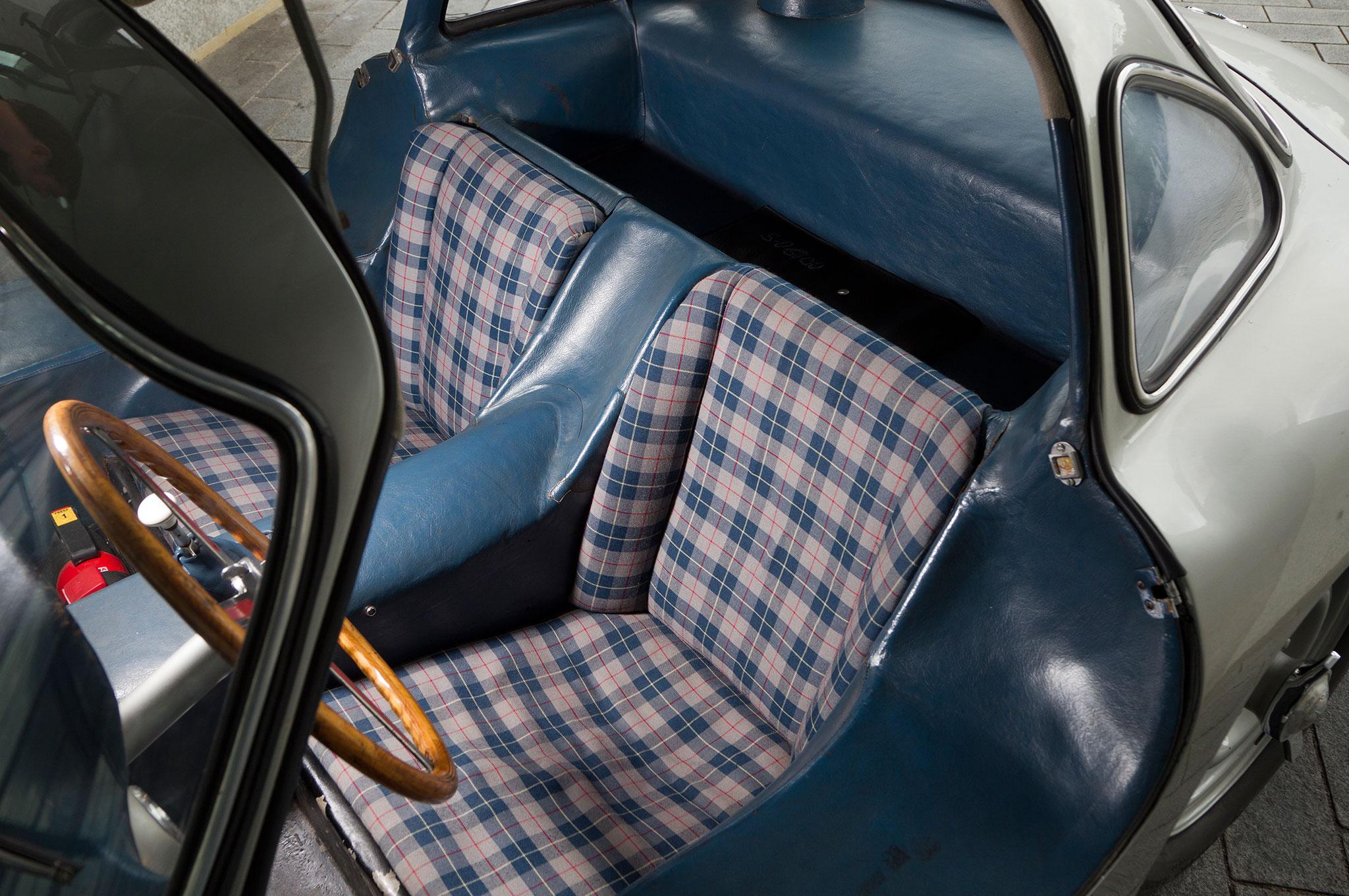 Mercedes Benz 300SL Blue Grey Interior 1