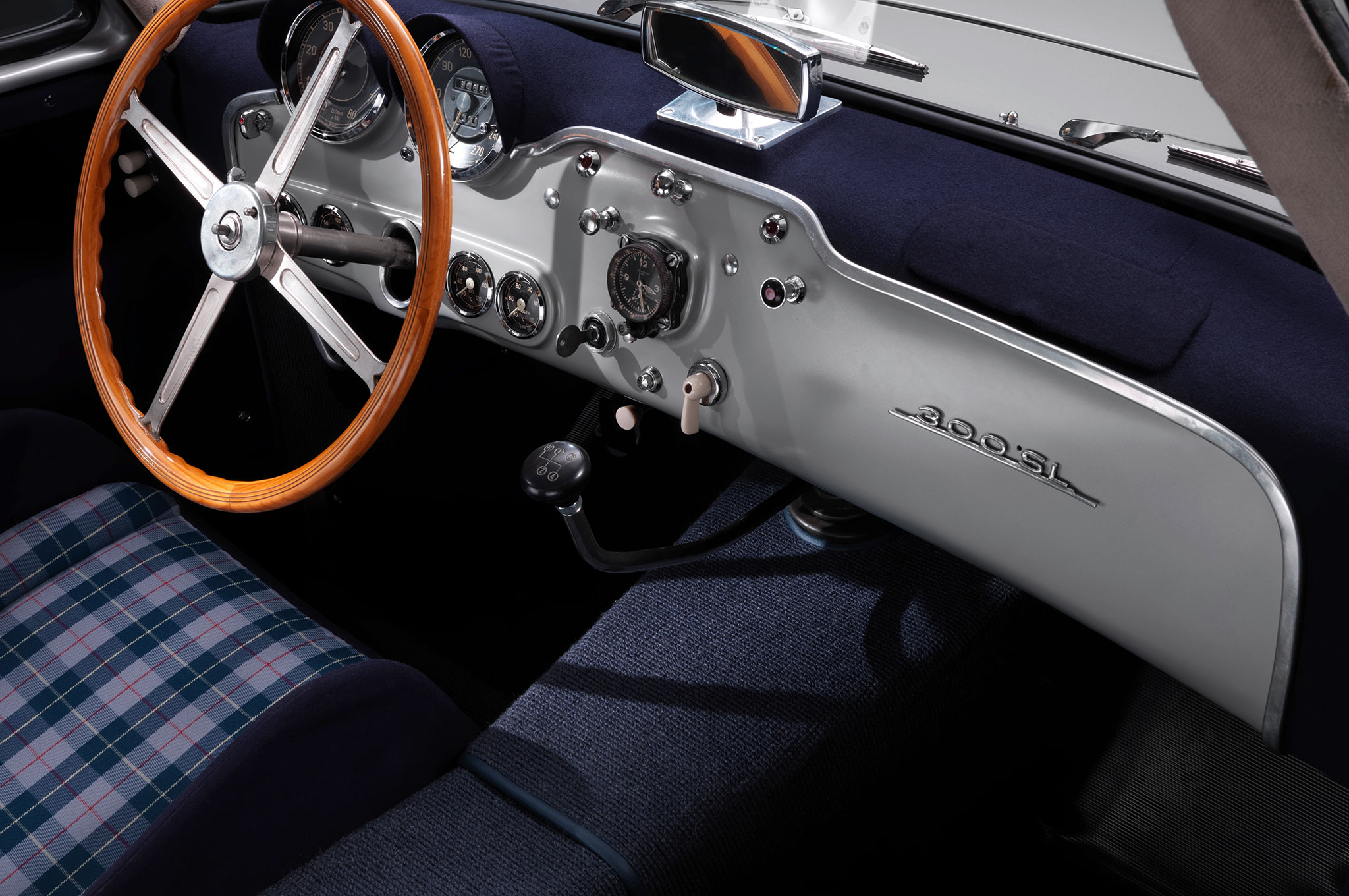 Mercedes Benz 300SL Blue Grey Interior 2