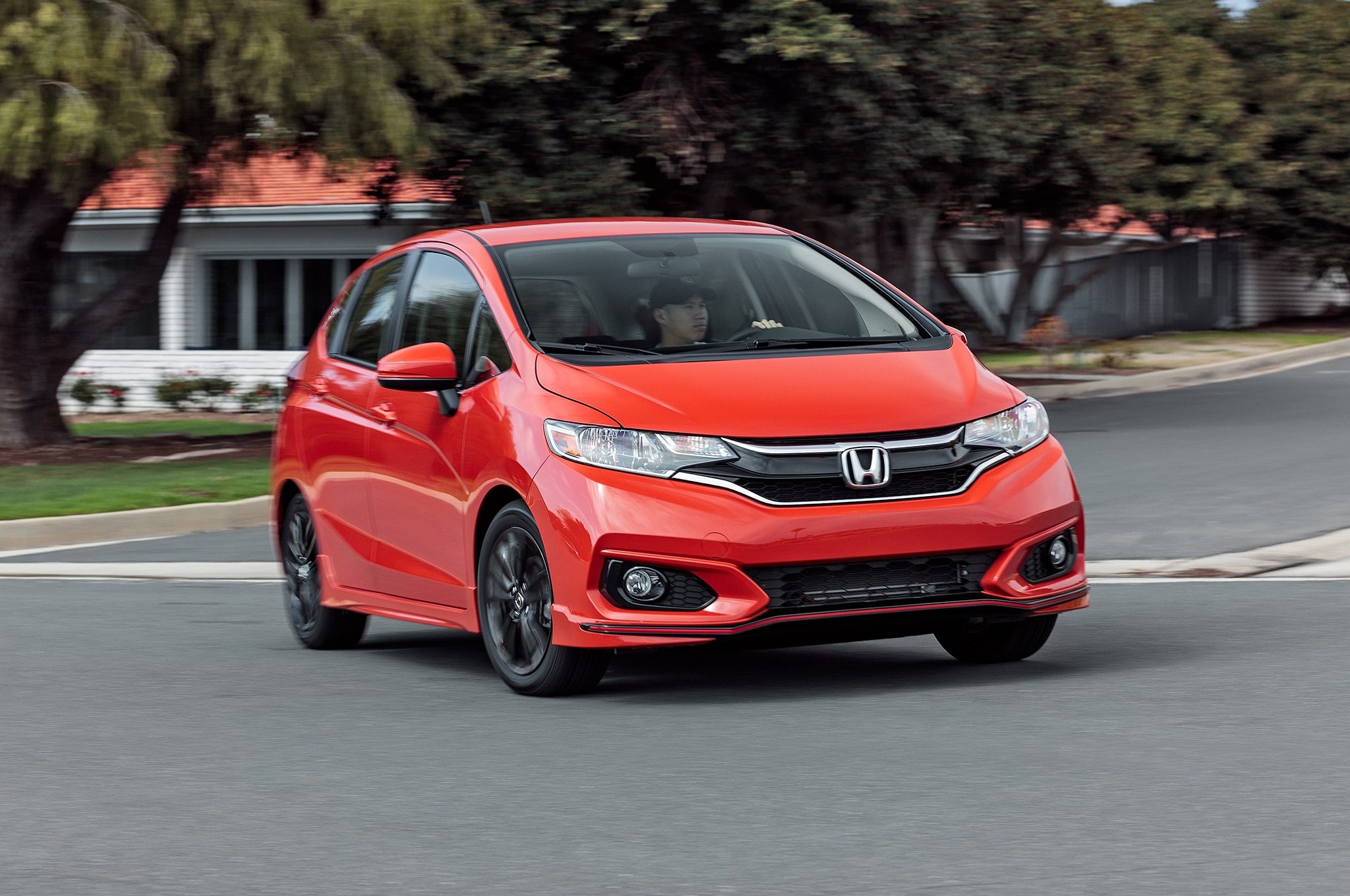 2018 Honda Fit Sport Front Three Quarter In Motion 03
