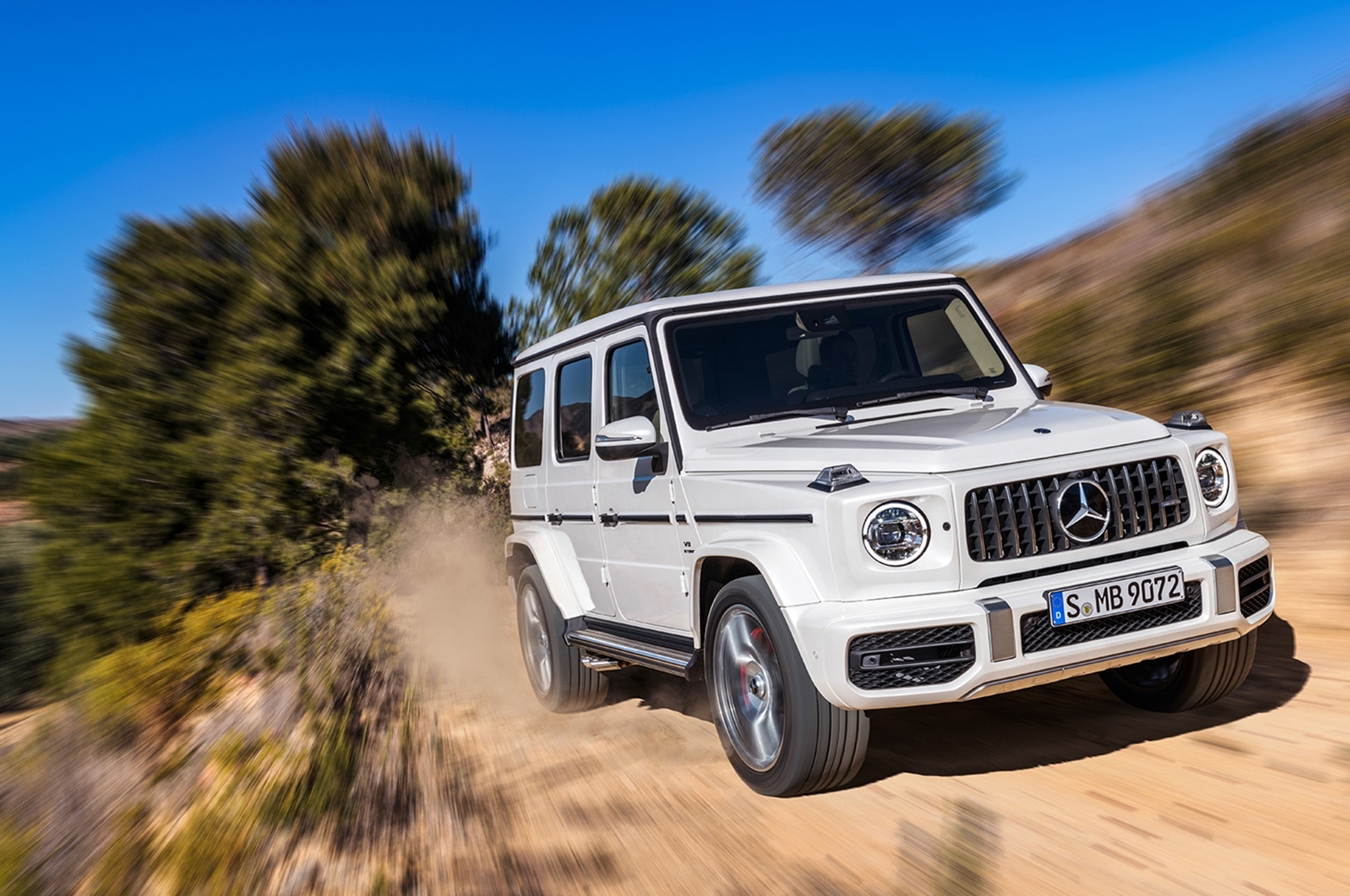 2019 Mercedes AMG G63 Front Three Quarter In Motion
