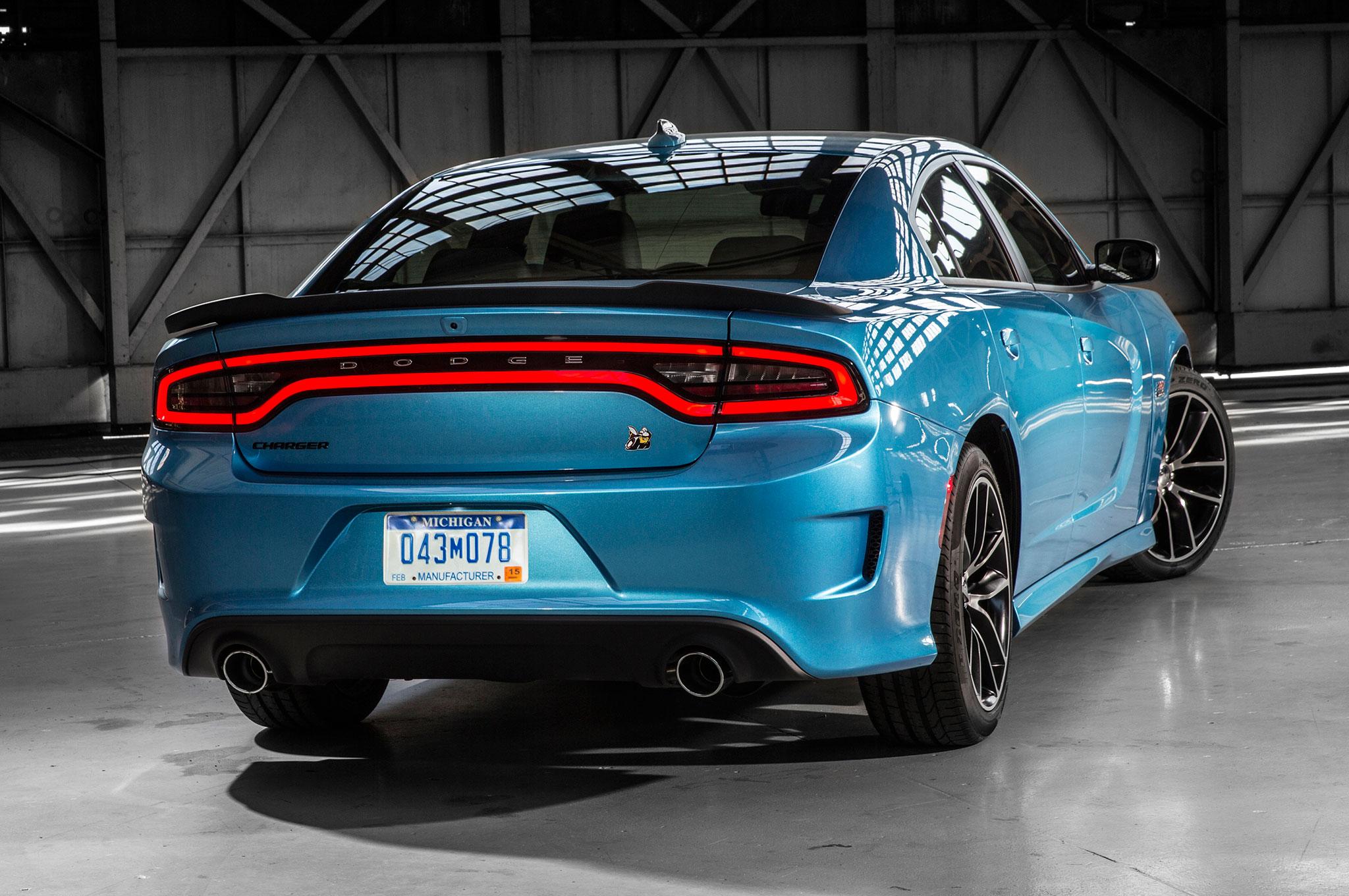 2017 Dodge Charger Rt Pack Rear Three Quarter View