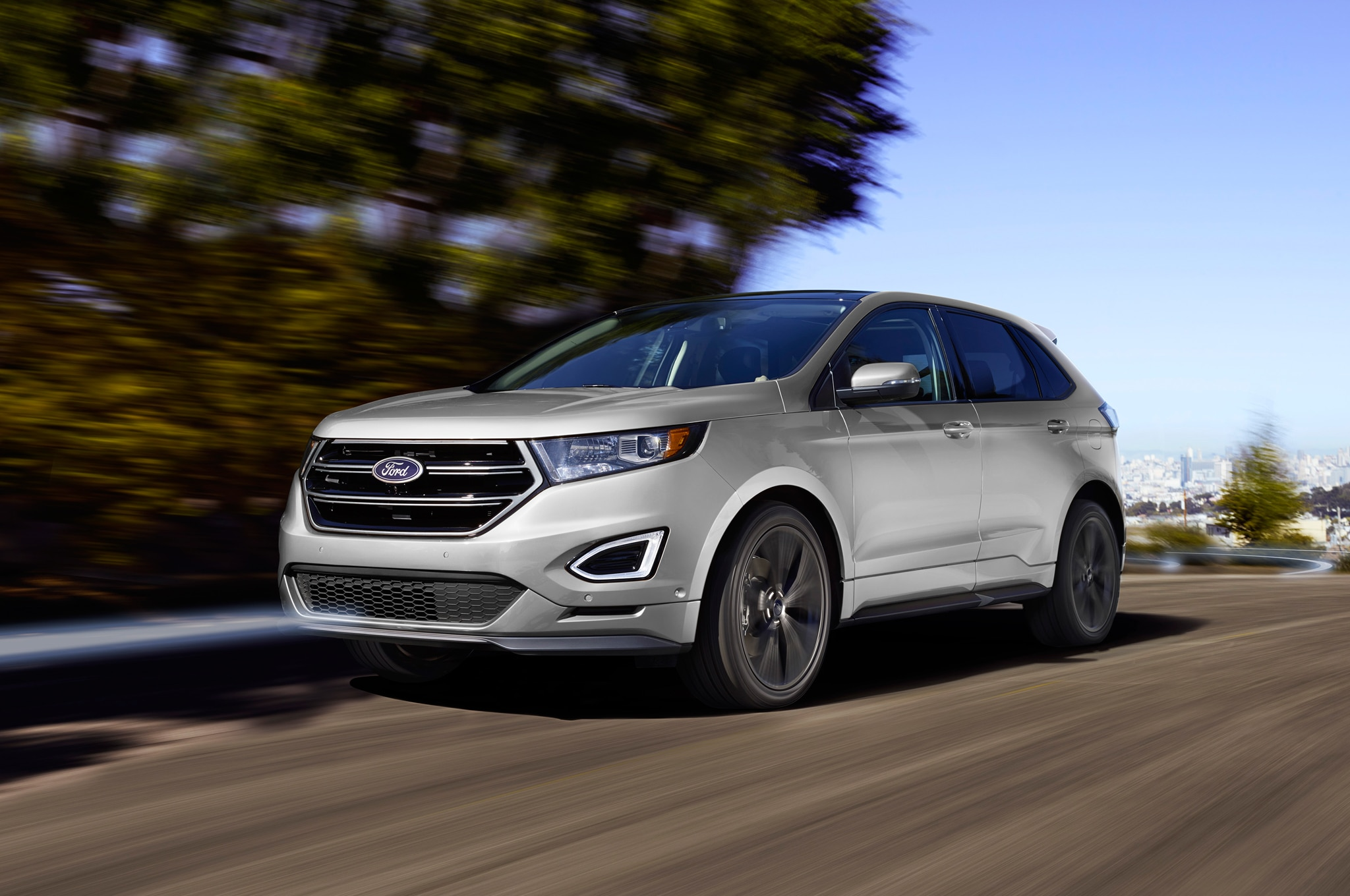 Ford Edge Sport Front Three Quarter In Motion