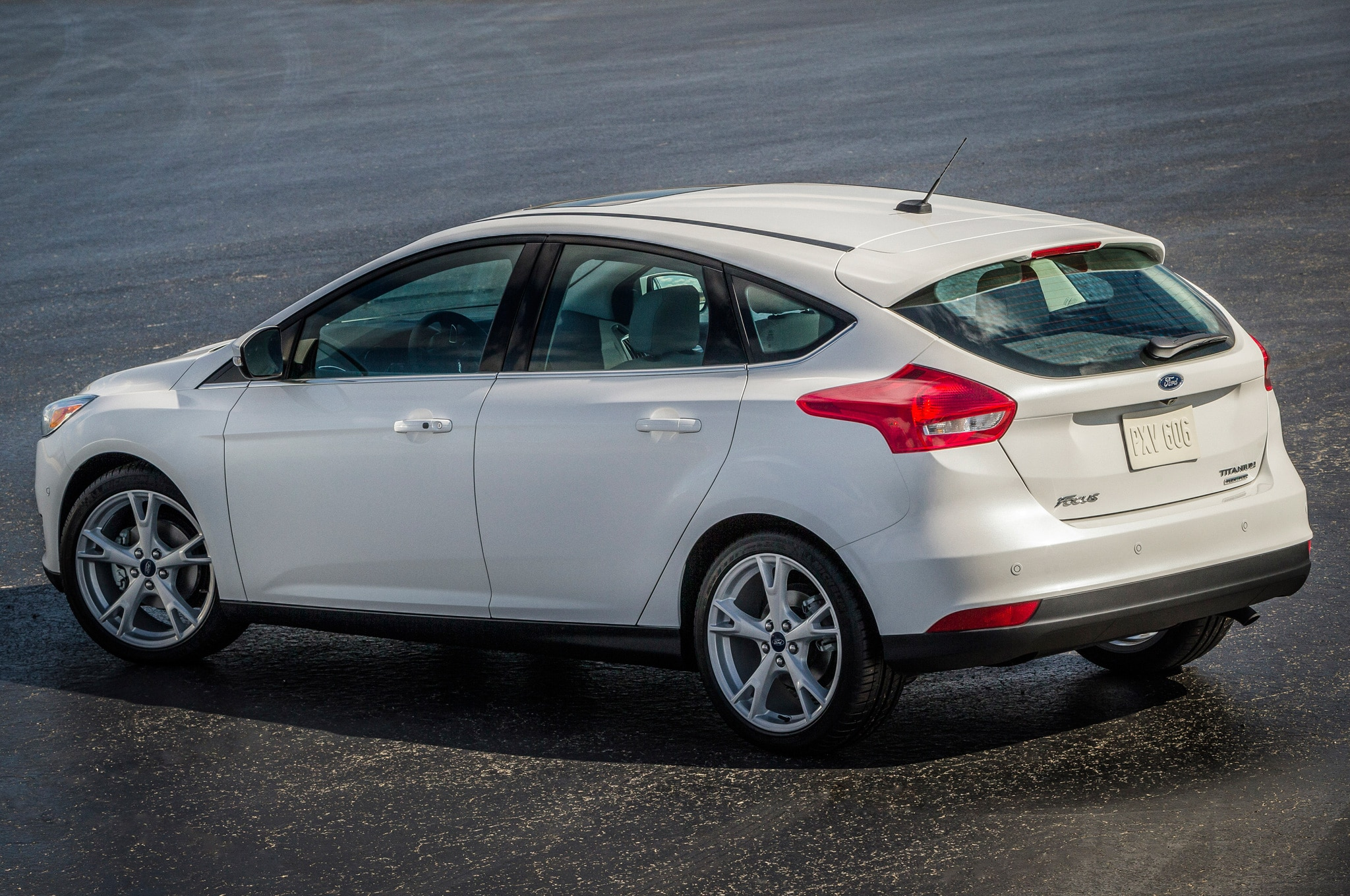 2017 Ford Focus Hatchback Rear Side View From Above