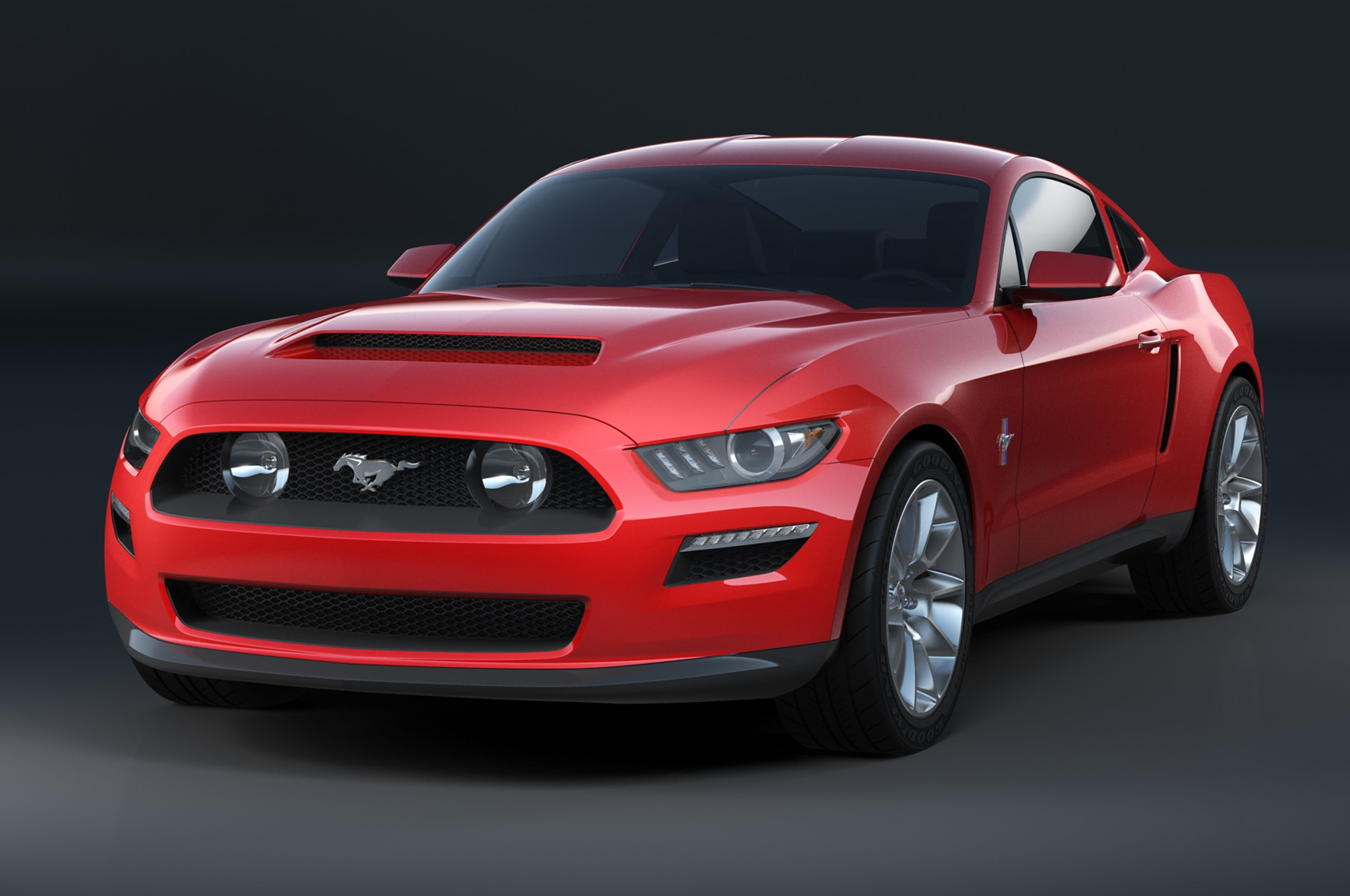 2015 ford mustang design sketch