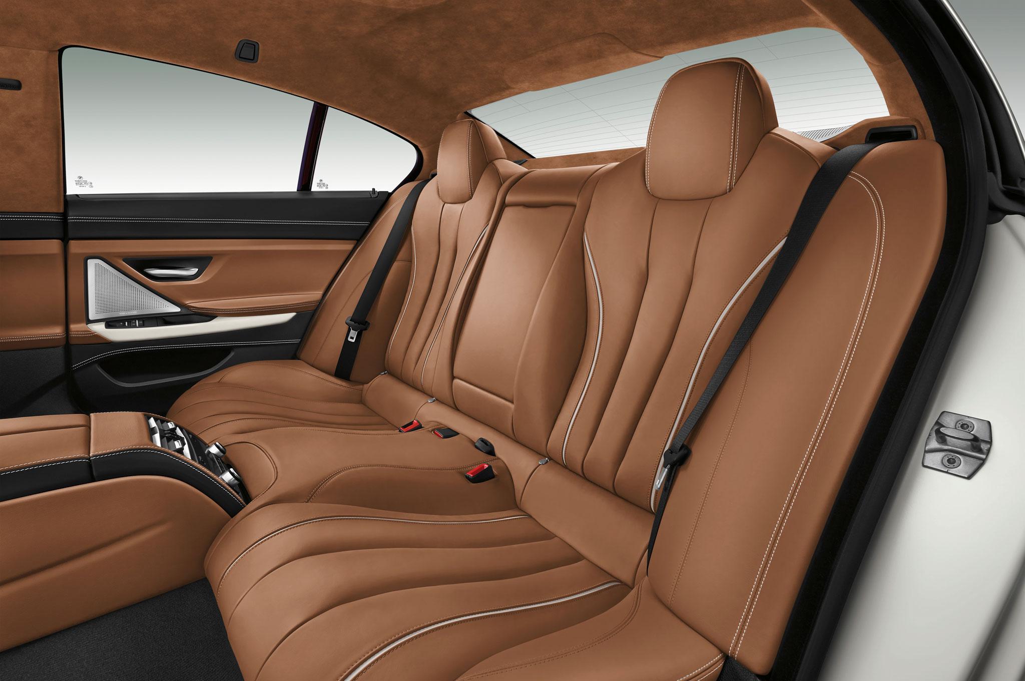 2016 BMW 6 Series Gran Coupe Rear Seat