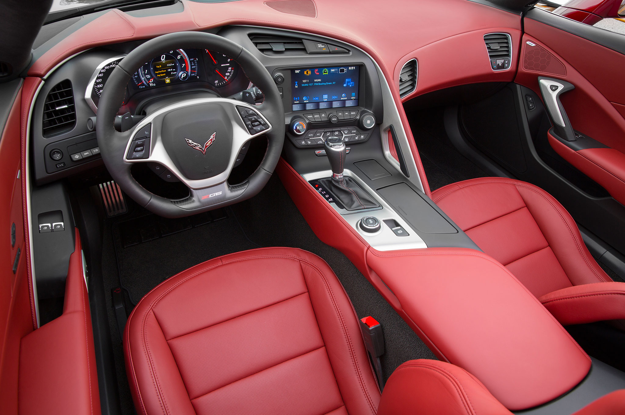 2016 Chevrolet Corvette Z06 E Red Design Package Interior 17 97