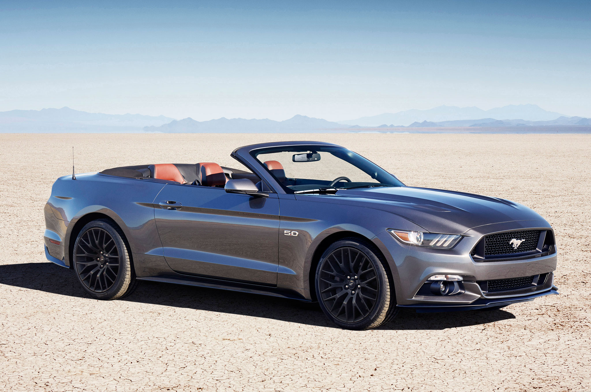 2016 ford mustang gt convertible performance pack front three quarter