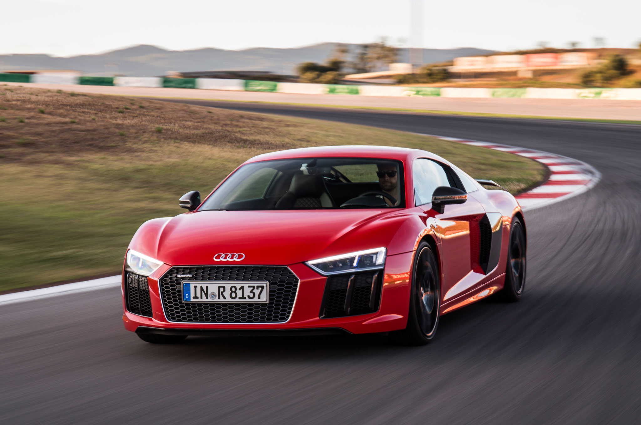 2017 Audi R8 V10 Plus Front Three Quarter In Motion 09