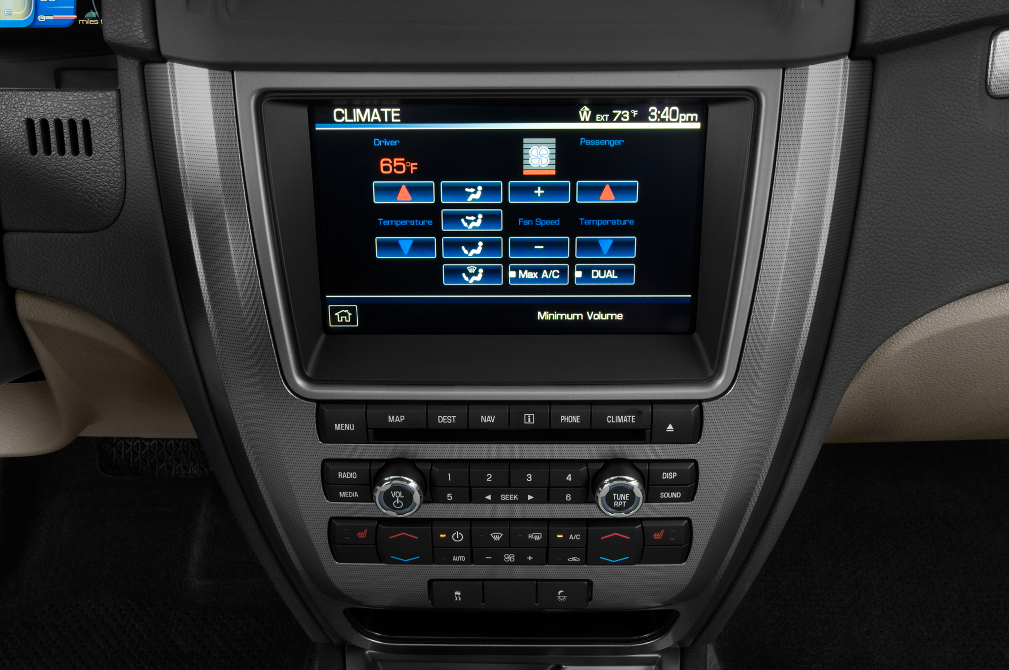 Ford Fusion: Audio control