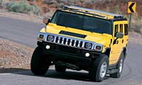 0207 H2pl Hummer H2 Hummer H2 Full Front Grill View