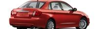 0808 03 Pl 2008 Subaru Impreza 2 5i Sedan Rear Three Quarter View