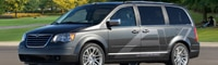 0901 01 Pl 2010 Chrysler Town And Country EV Front Three Quarter View