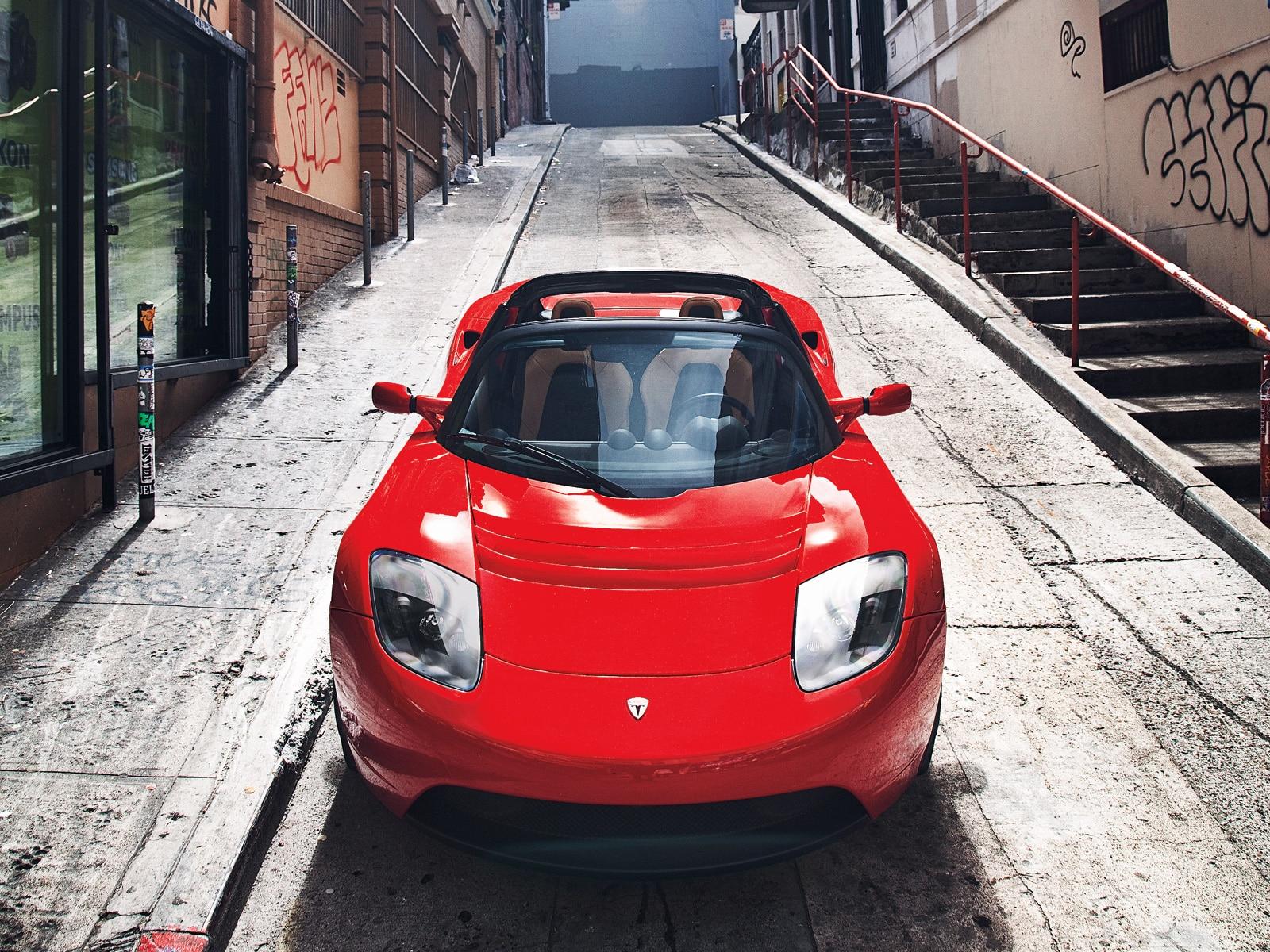 0911 01 Z 2009 Tesla Roadster Electric Car Front View