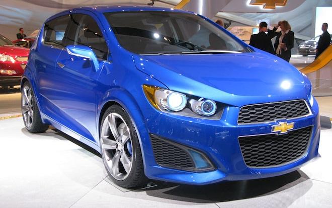 Chevrolet Aveo RS Show Car Front Three Quarters Passenger