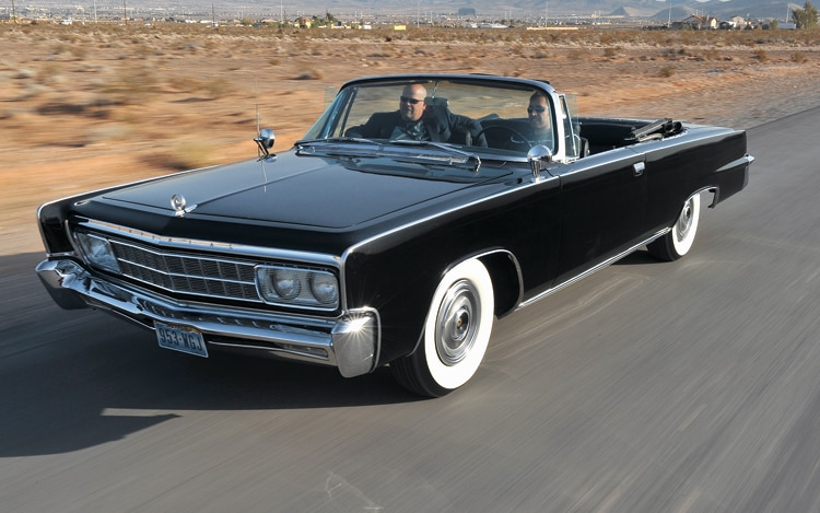 1005 06 Z 1966 Imperial Crown Convertible Front Three Quarter View