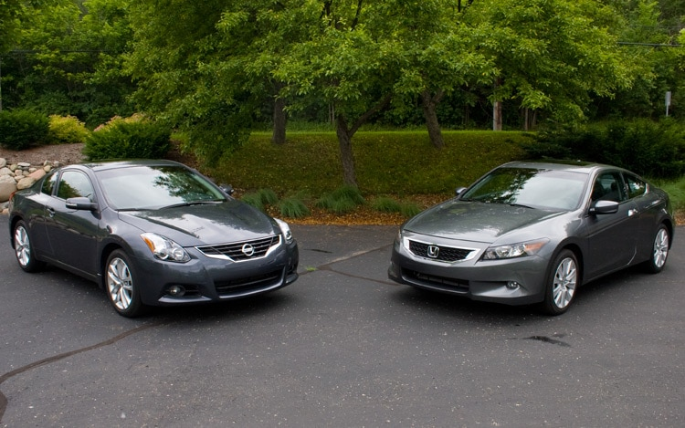 2010 Honda Accord Coupe V 6 And 2010 Nissan Altima Coupe 35 Sr