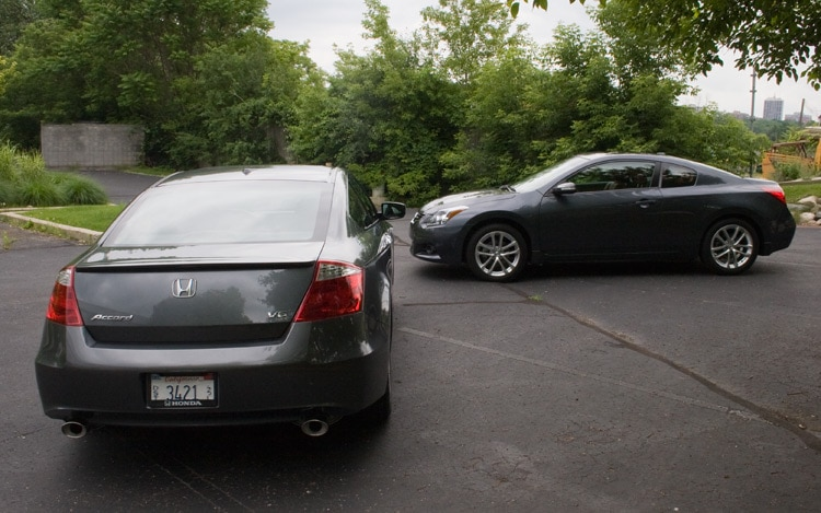 2010 Honda Accord Coupe V 6 And 2010 Nissan Altima Coupe 35 Sr