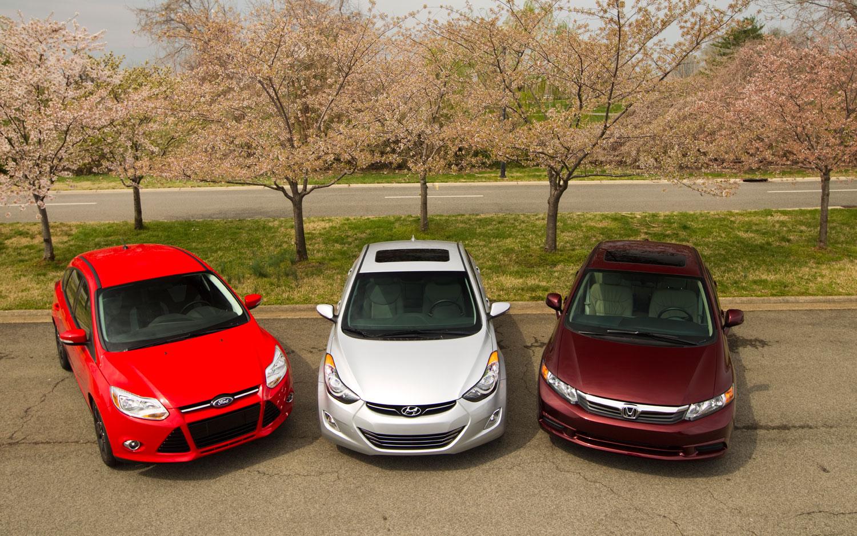 2012 Honda Civic Meets The 2011 Hyundai Elantra And The 2012 Ford