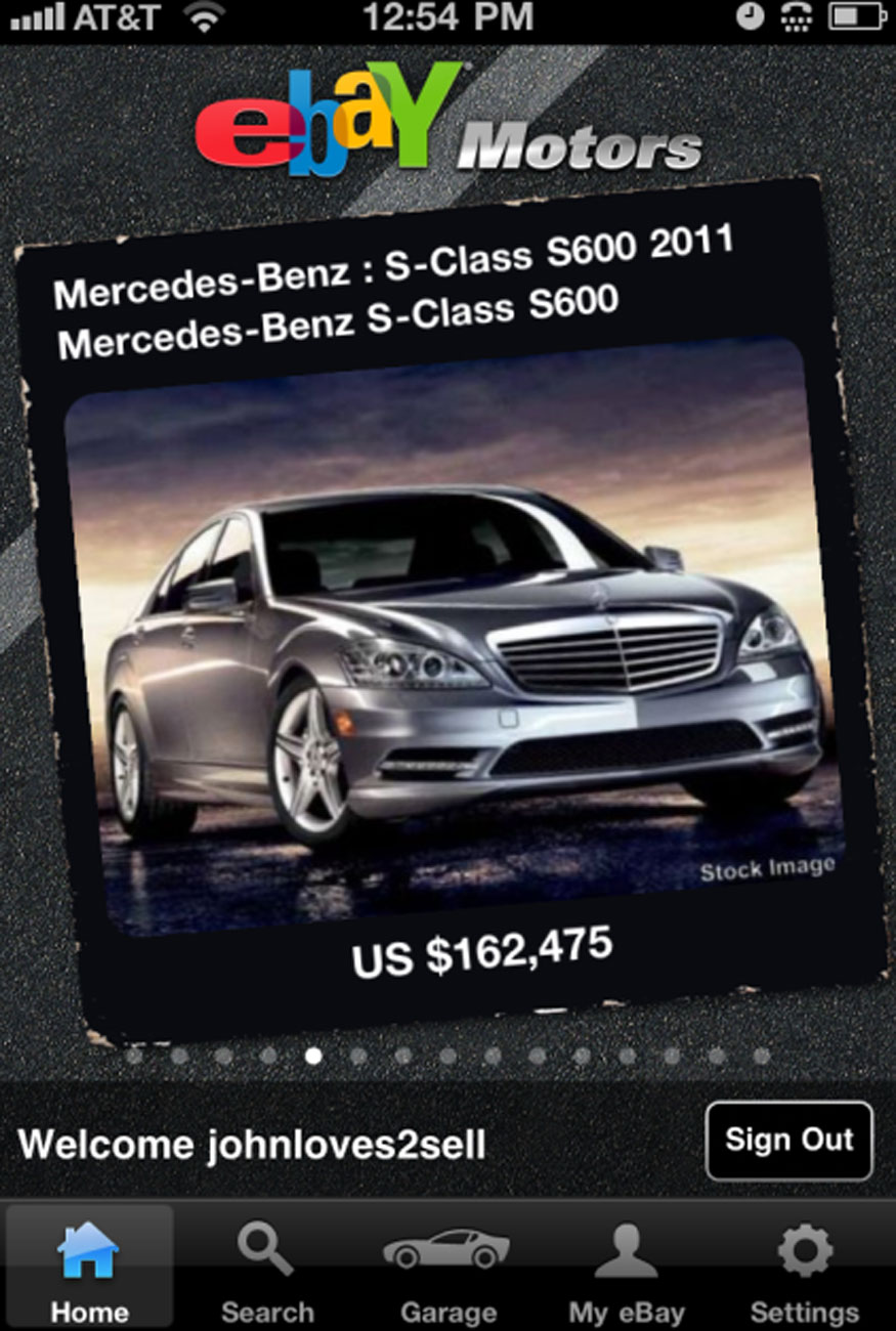 eBay Motors App Launched for iPhone
