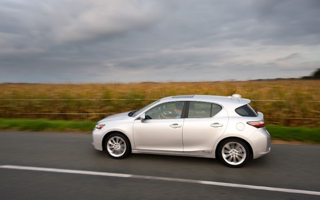 2011 Lexus CT200h Side View Driver1