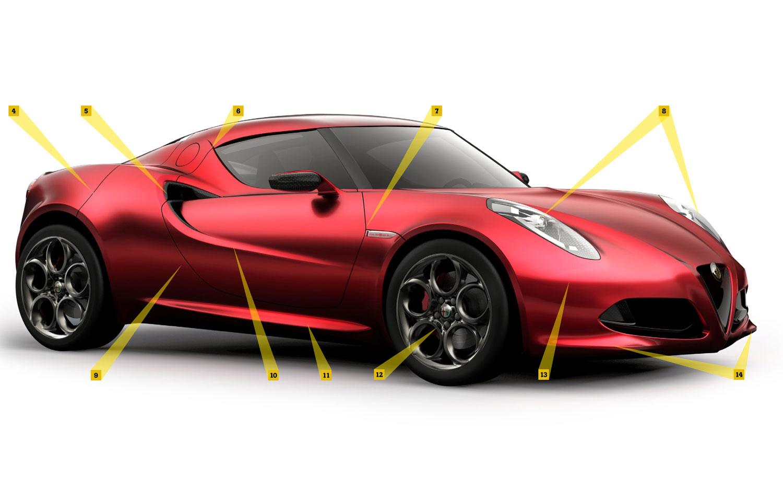 Alfa Romeo 4c By Design Automobile Magazine Engine Diagram Front View