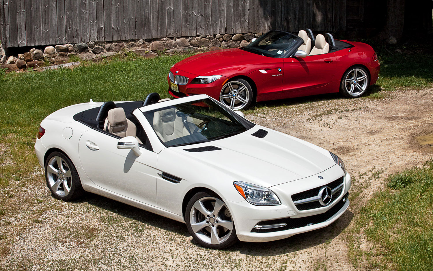Bmw Z4 Sdrive35is Vs Mercedes Benz Slk350 Comparison Automobile Magazine