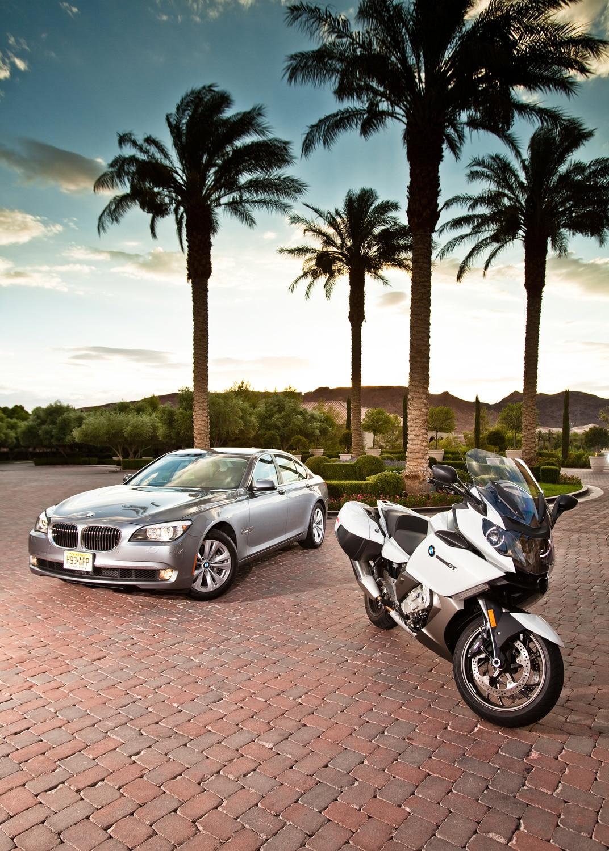 Split Sixes: BMW 740i and BMW K1600GT - Automobile Magazine