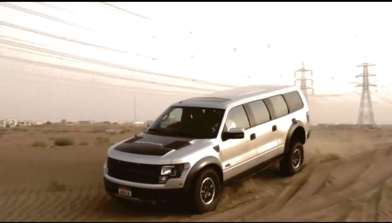Ford Raptor SVT 6 Door Sand Jpg & Six-Door Ford F-150 Raptor SUV Spotted in United Arab Emirates Photo ...