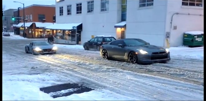 Seattle Audi R8 And Nissan GT R1