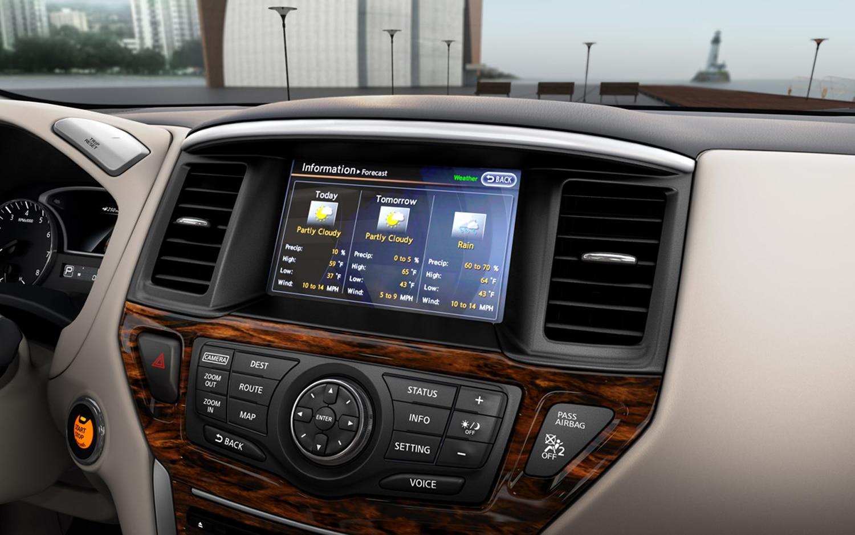 nissan pathfinder interior goes revealed ruggedness keeps upscale dashboard source