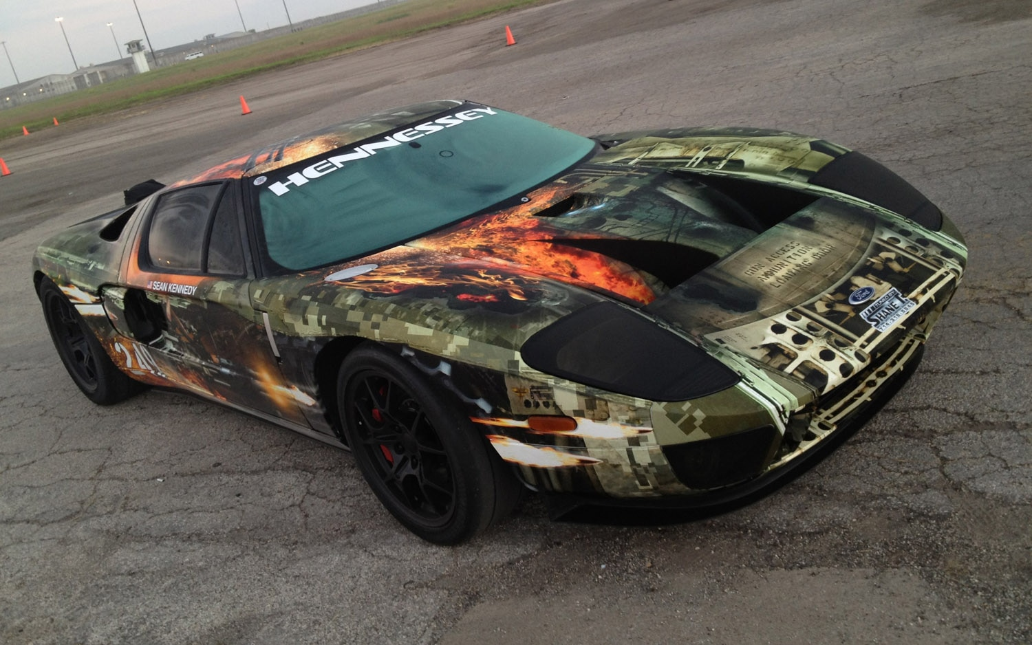 Hennessey Ford Gt Texas Mile Record Front Three Quarter