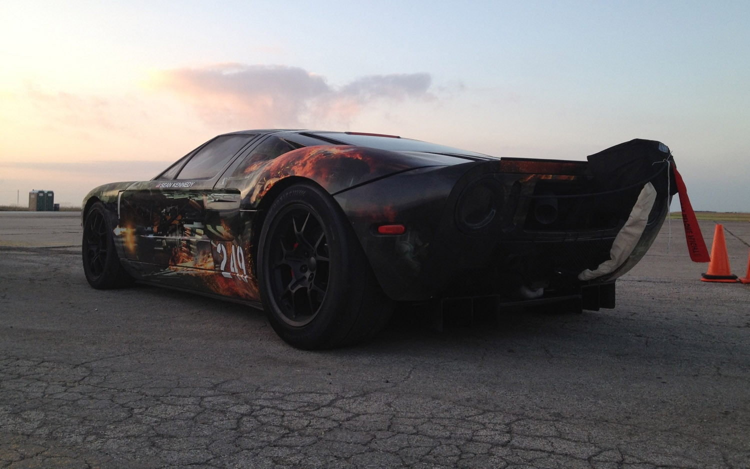 Hennessey Ford Gt Texas Mile Record Rear Three Quarter