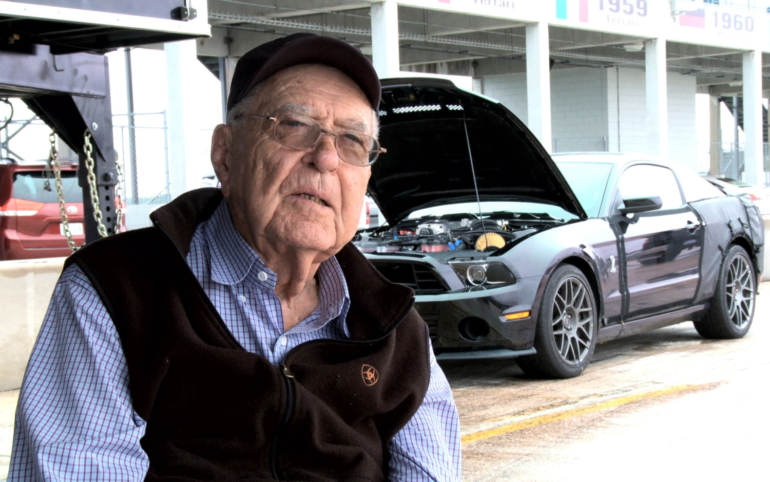 Carroll Shelby With Ford Shelby GT500 Durability Car1