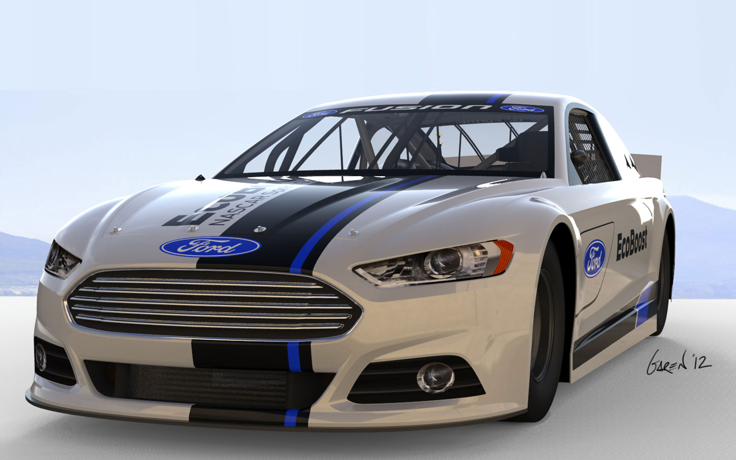 2013 Ford Fusion NASCAR Facelift Front View1