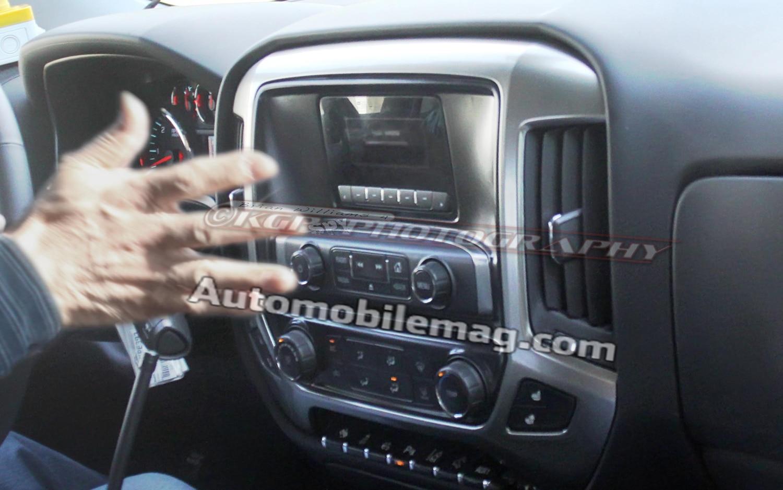 Spied 2014 Chevrolet Silverado Interior Boasts Wild Center Stack