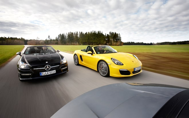 Roadster Roundup Porsche Boxster S Vs Mercedes Benz Slk55 Amg Bmw Z4 Sdrive35is