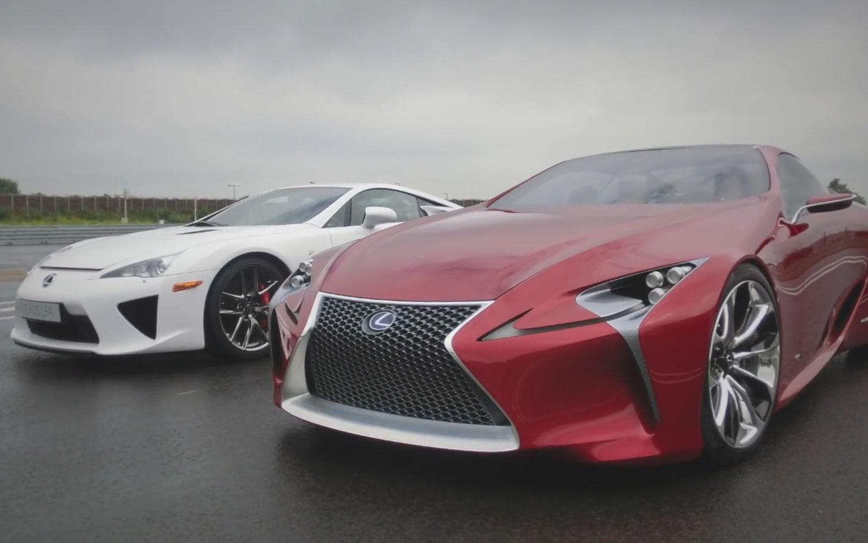 Lexus LF LC Next To Lexus LFA1