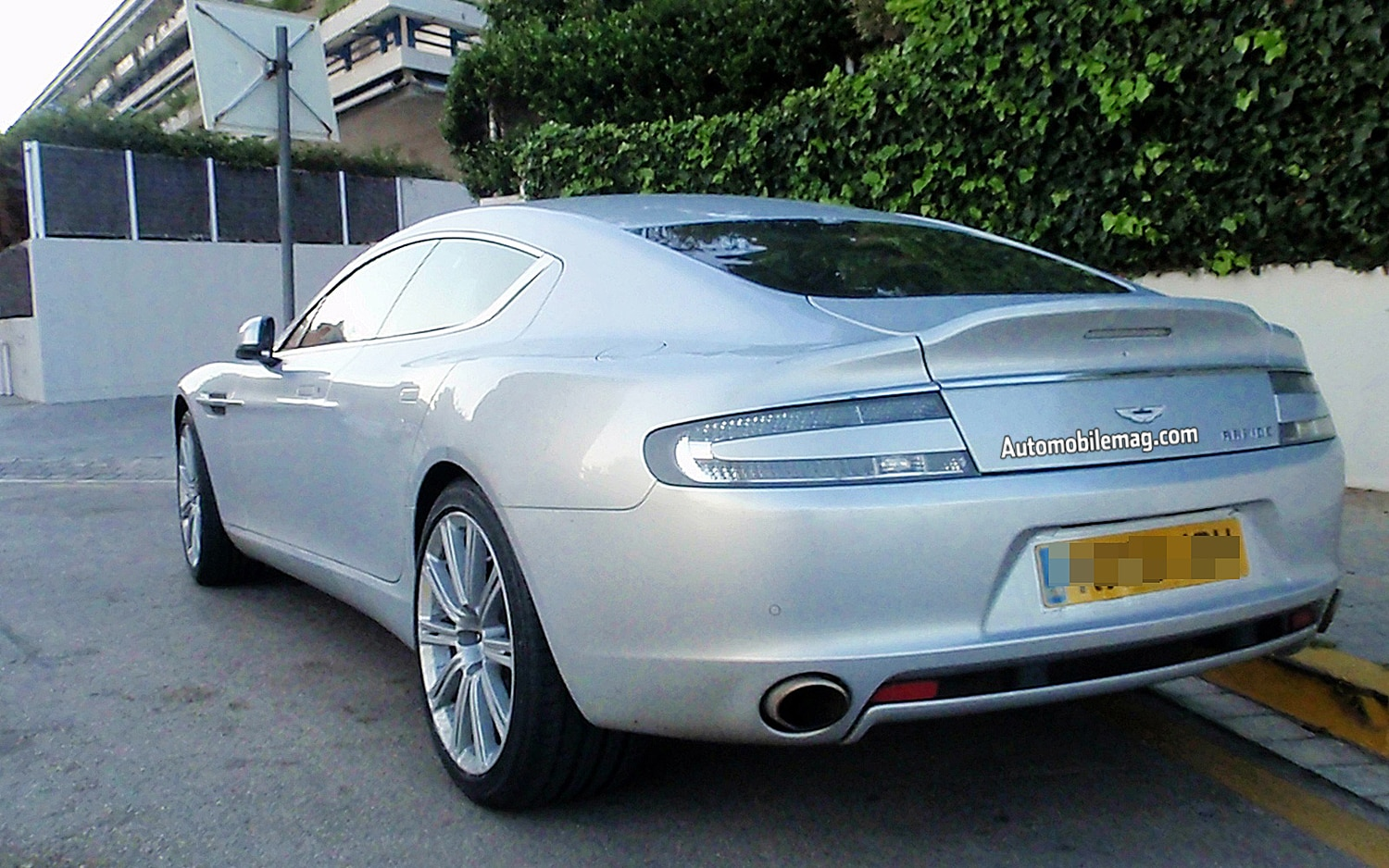 Caught! Refreshed Aston Martin Rapide Gets Face-lift And
