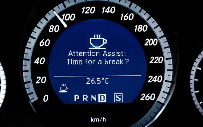 Mercedes Benz Attention Assist Warning1