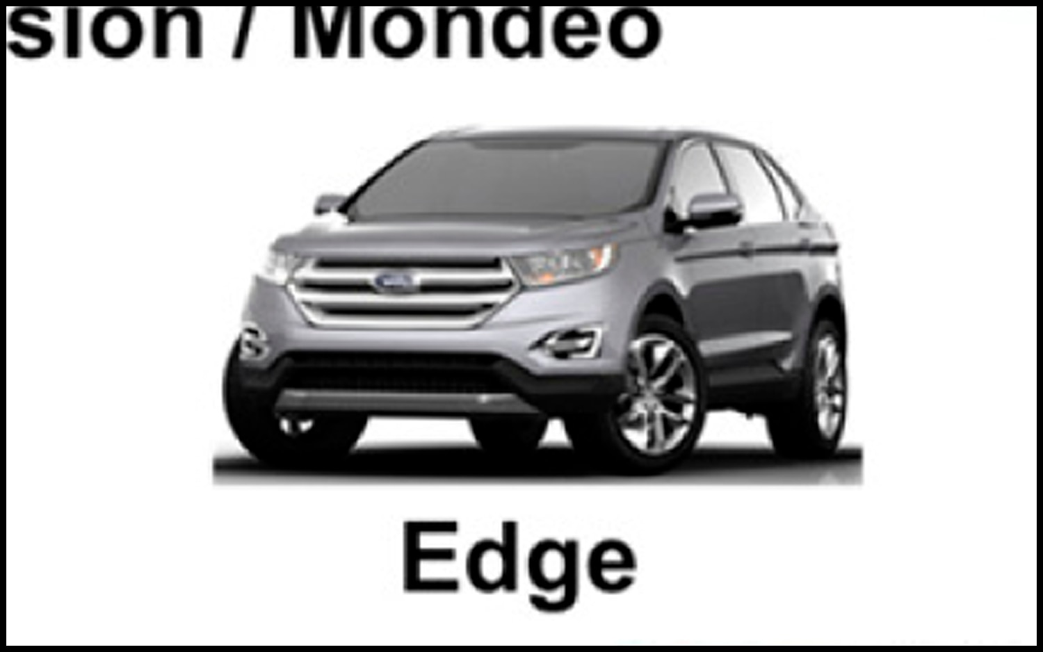 Report Ford Accidentally Shows 2015 Edge