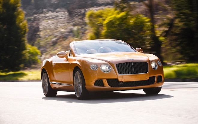 2013 Bentley Continental GTC Front Three Quarter In Motion 41