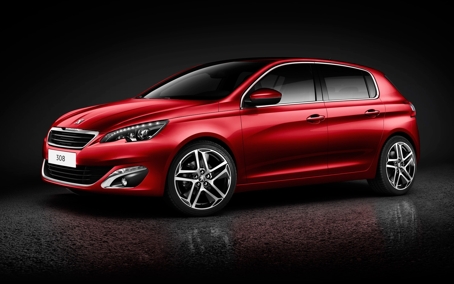 2013 Peugeot 308 Front Three Quarters View In Red1