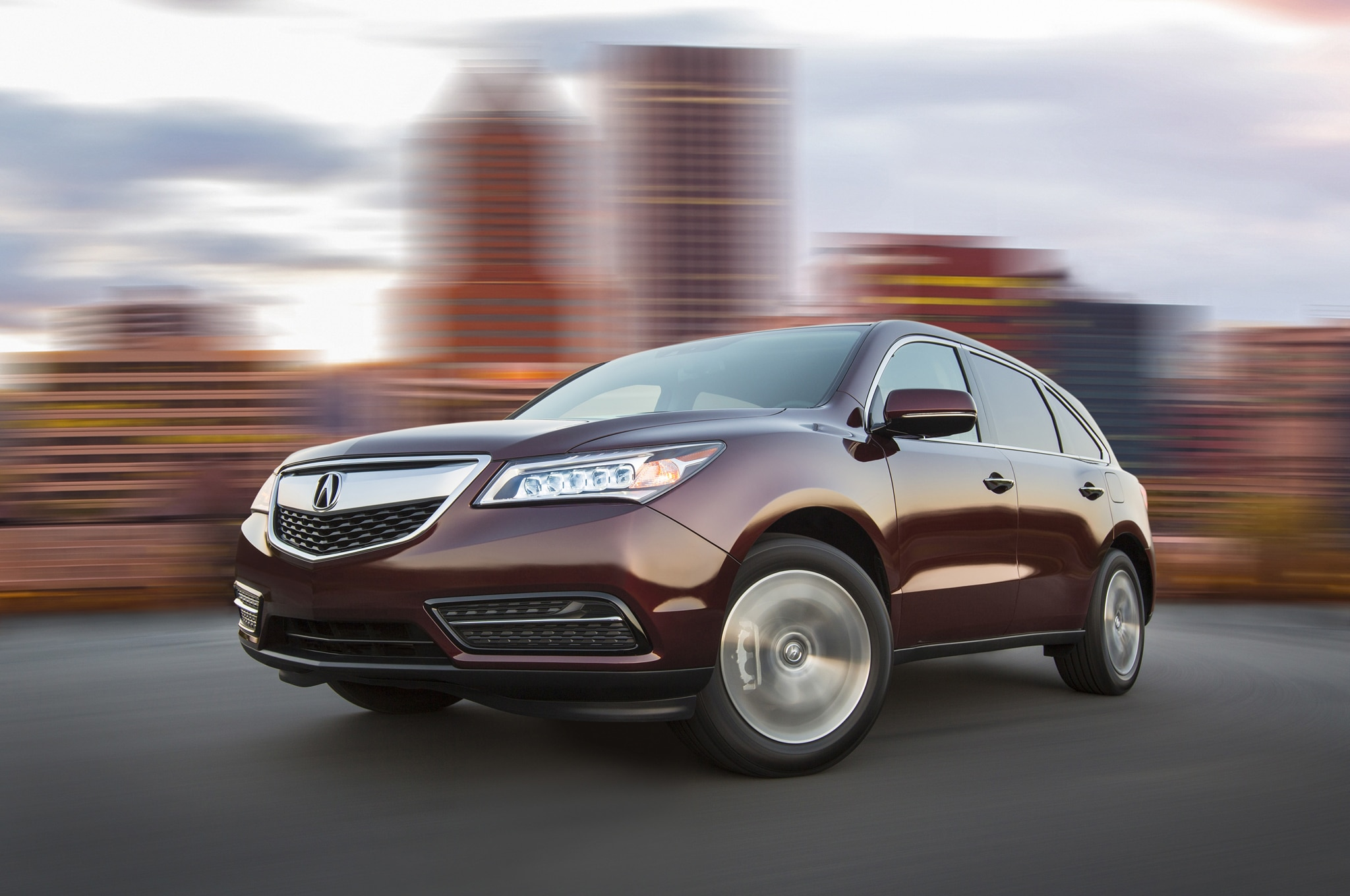 2014 Acura MDX Front Three Quarters In Motion 061