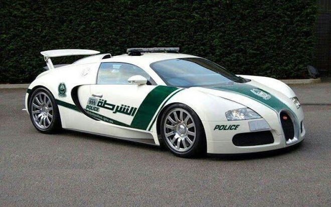 Bugatti Veyron Police Car Dubai1