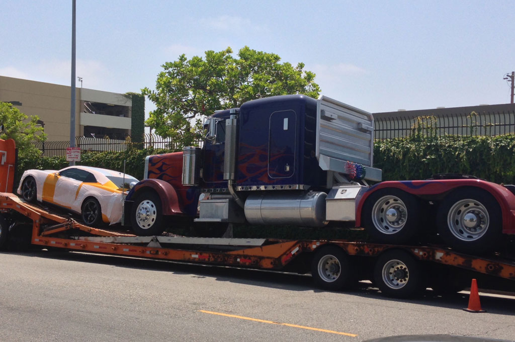 Transformers Bumblebee Camaro And Optimus Prime Spied