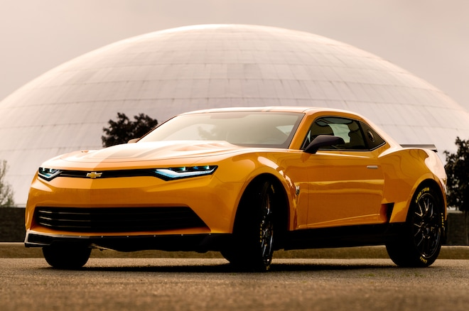 2014 Chevrolet Camaro Transformers Bumblebee Front Three Quarters View1