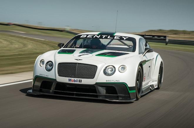 Bentley Continental GT3 Front Three Quarter Track1