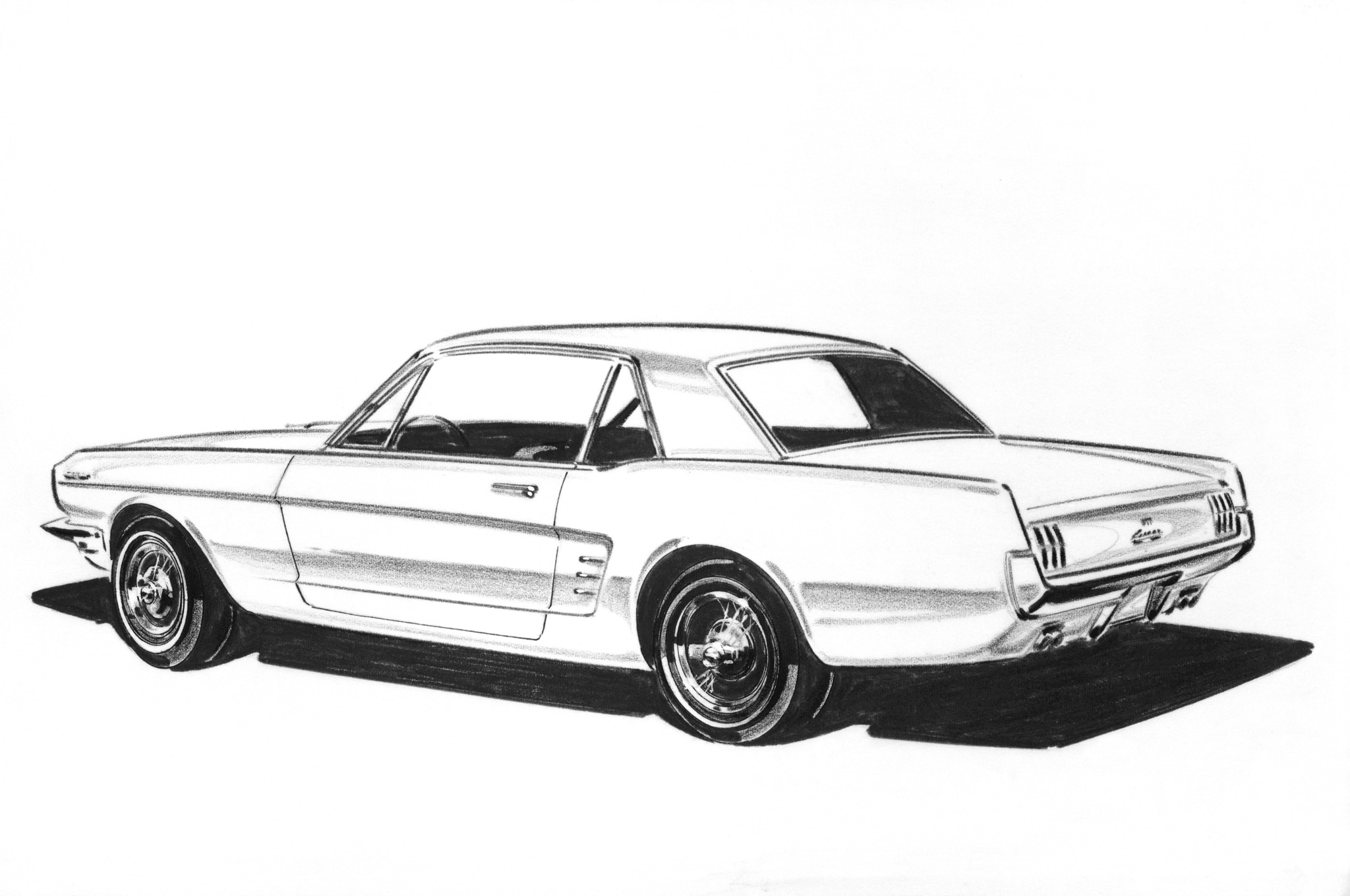 1962 Ford Mustang Styling Sketch1