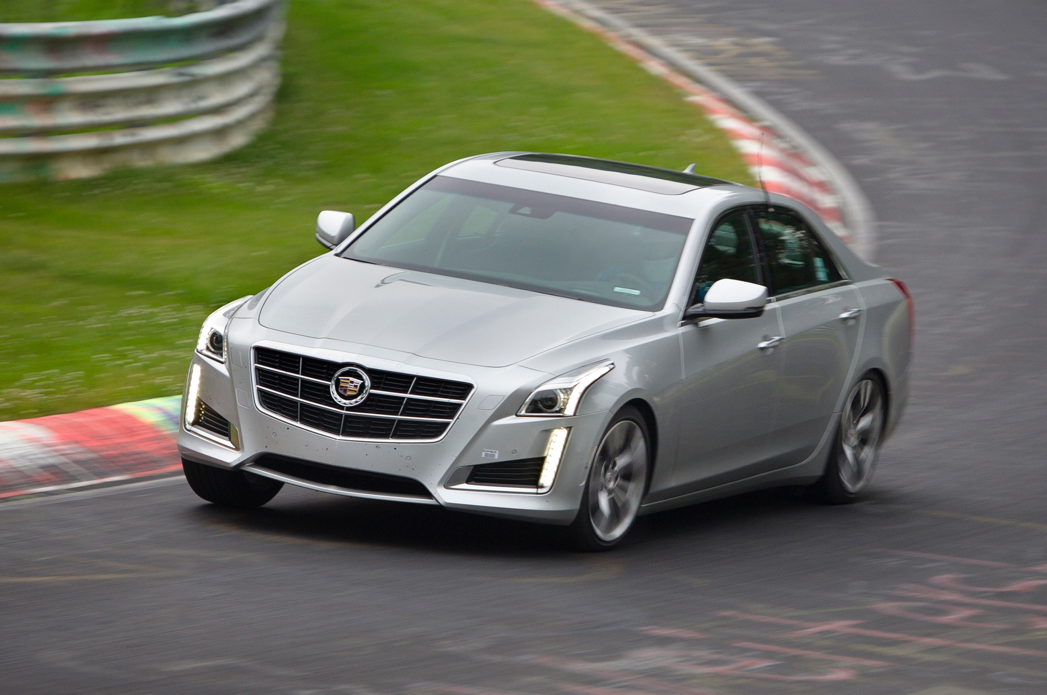 2014 Cadillac CTS Vsport Front Three Quarters View On Nurburgring1